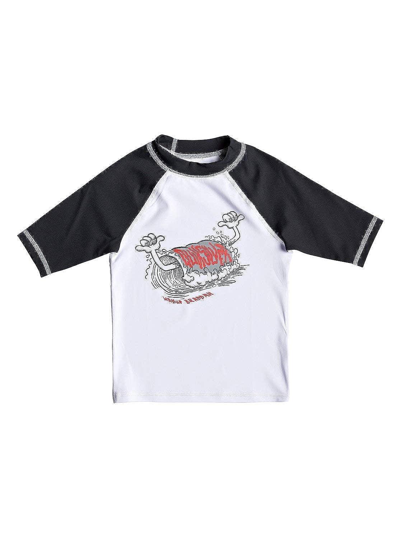 QUIKSILVER Boys Big Bubble Dreams Short Sleeve Rashguard UPF 50+