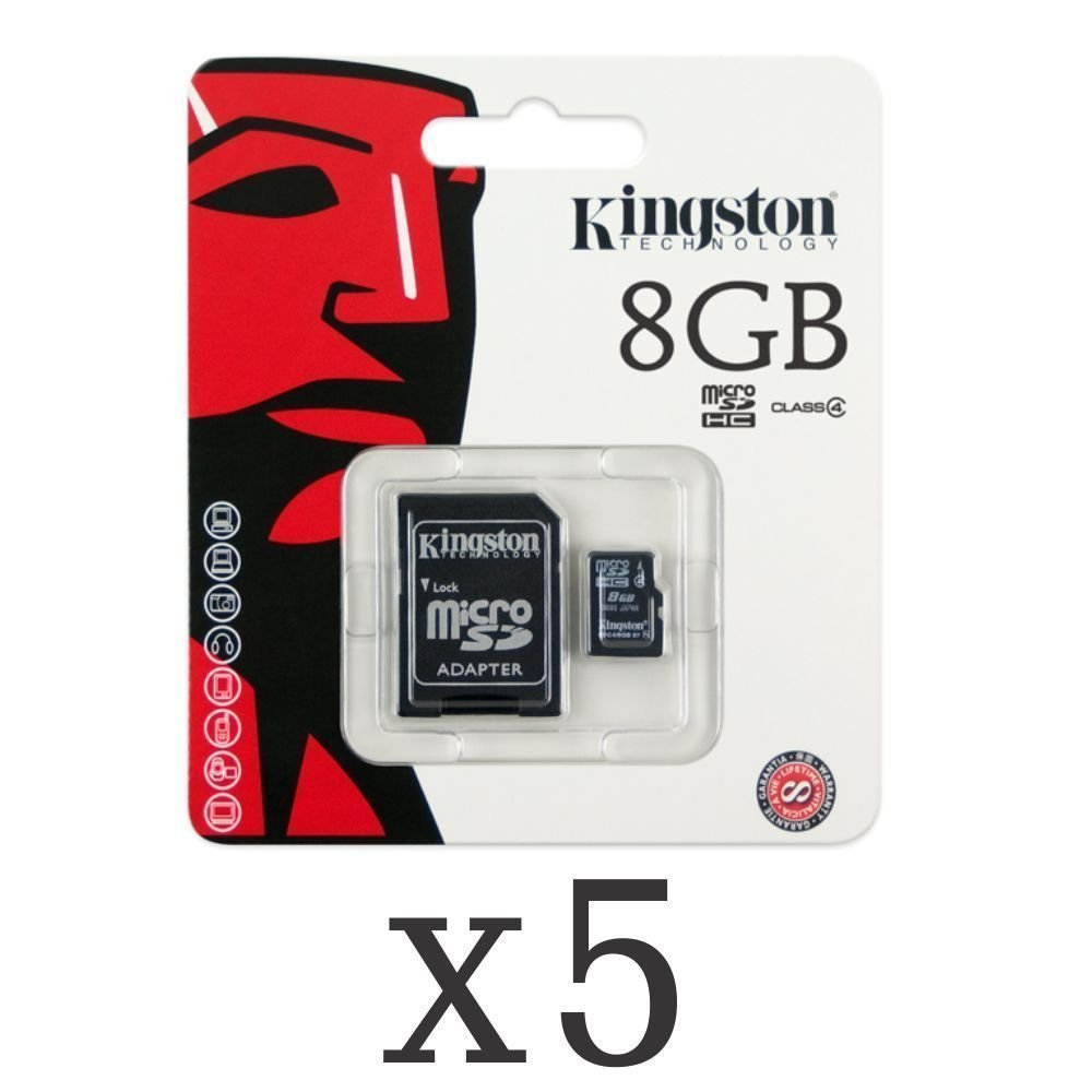 SoCal Trade® Products - Genuine Kingston 8 GB 8gb (8 Gigabyte) Class 4 MicroSDHC / SD HC Micro Secure Digital High Capacity Flash Memory Card SDC4/8GB for Dell Cell phone / Tablet Compatible : Aero, Flash, Mini 3i, Mini 3iX, Smoke, Streak, Streak 10 Pro,