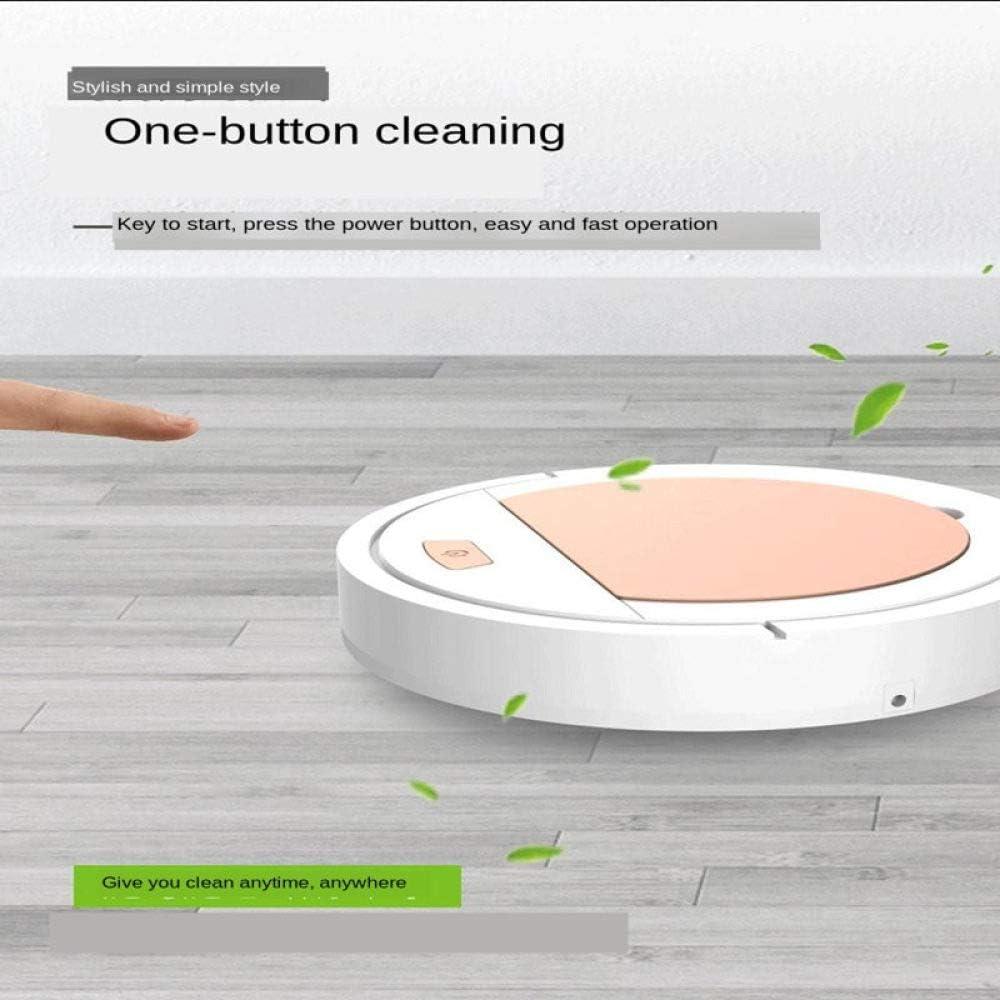 ZLAHY Robot de balayage Vente de cadeau de robot aspirateur intelligent paresseux, robot nettoyeur de maison chargé, noir Blanc