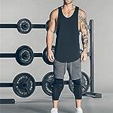 9e3d3096778cd Magiftbox Men s Muscle Gym Workout Stringer Tank Tops Bodybuilding Fitness  T-Shirts T01 Black US-XL