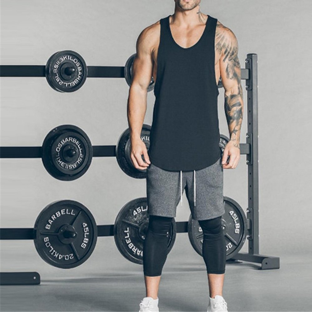 0f4ad3e1a Magiftbox Men's Muscle Gym Workout Stringer Tank Tops Bodybuilding Fitness T -Shirts T01_Black_US-XL - T01_Black_US-XL < Shops < Clothing, Shoes &  Jewelry - ...