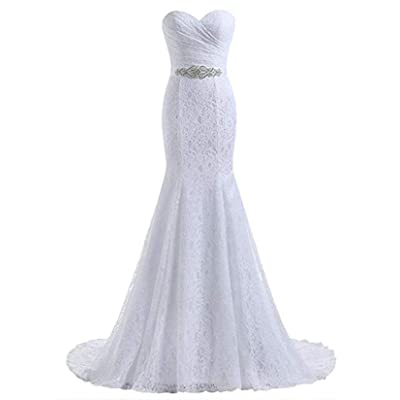 Likedpage Women's Lace Mermaid Bridal Wedding Dresses at Women's Clothing store