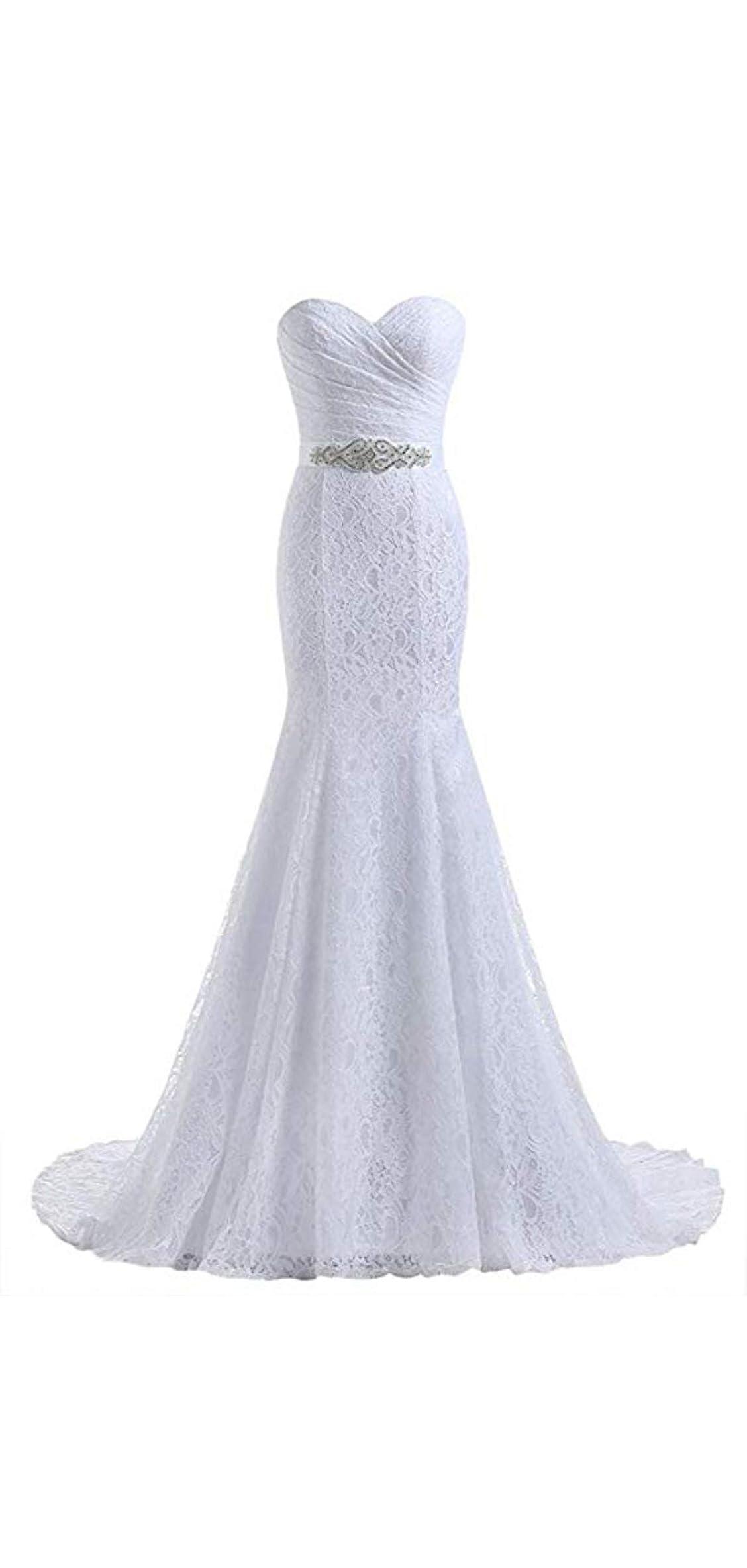 Women's Lace Mermaid Bridal Wedding Dresses