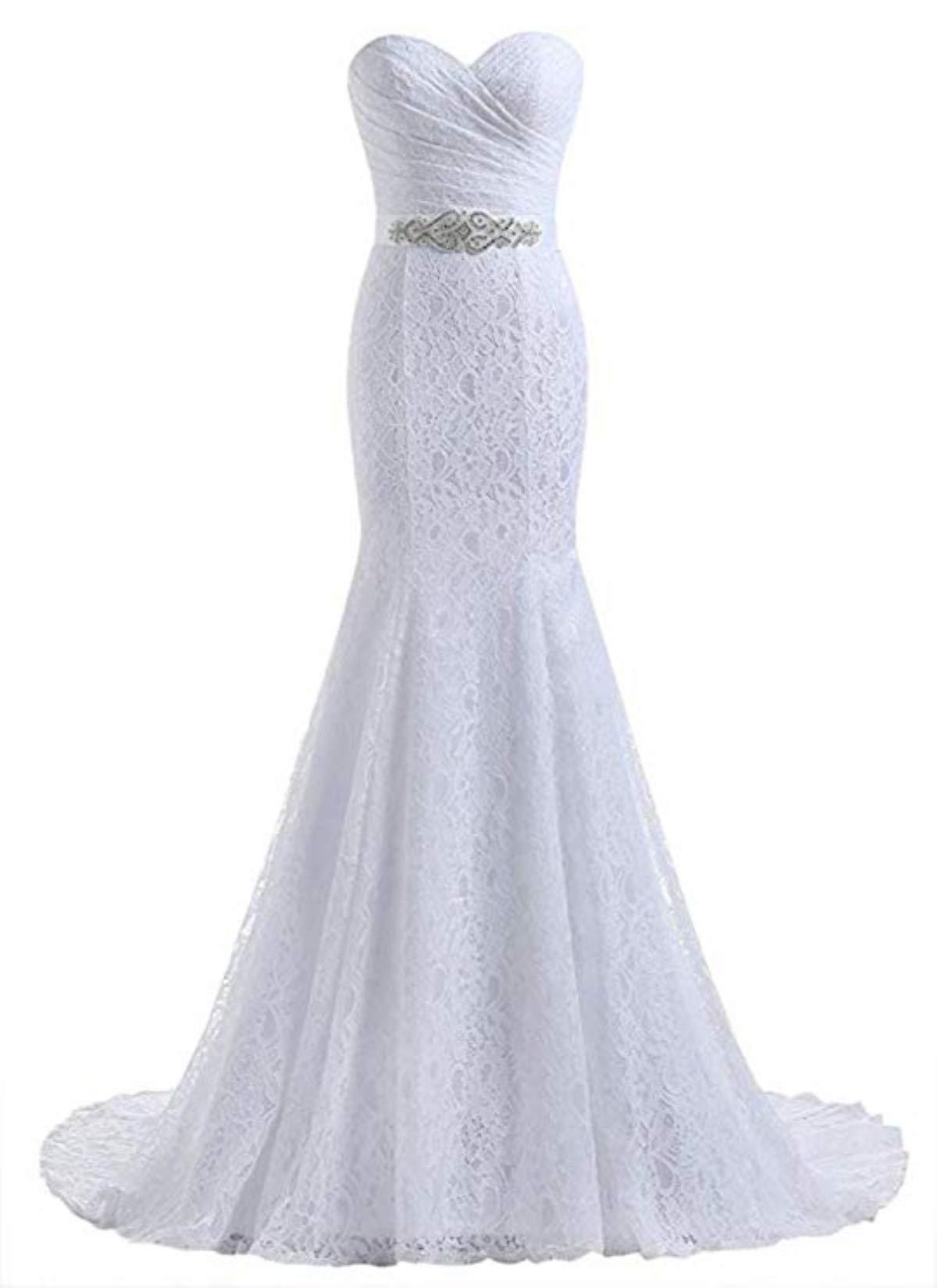 Likedpage Women's Lace Mermaid Bridal Wedding Dresses product image