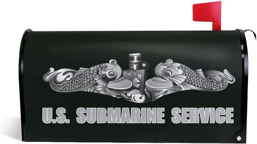 Lazzine US Submarine Service Dolphins Garden Mailbox Cover Magnetic