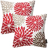 phantoscope new living series throw pillow case cushion cover dahlia set of 2