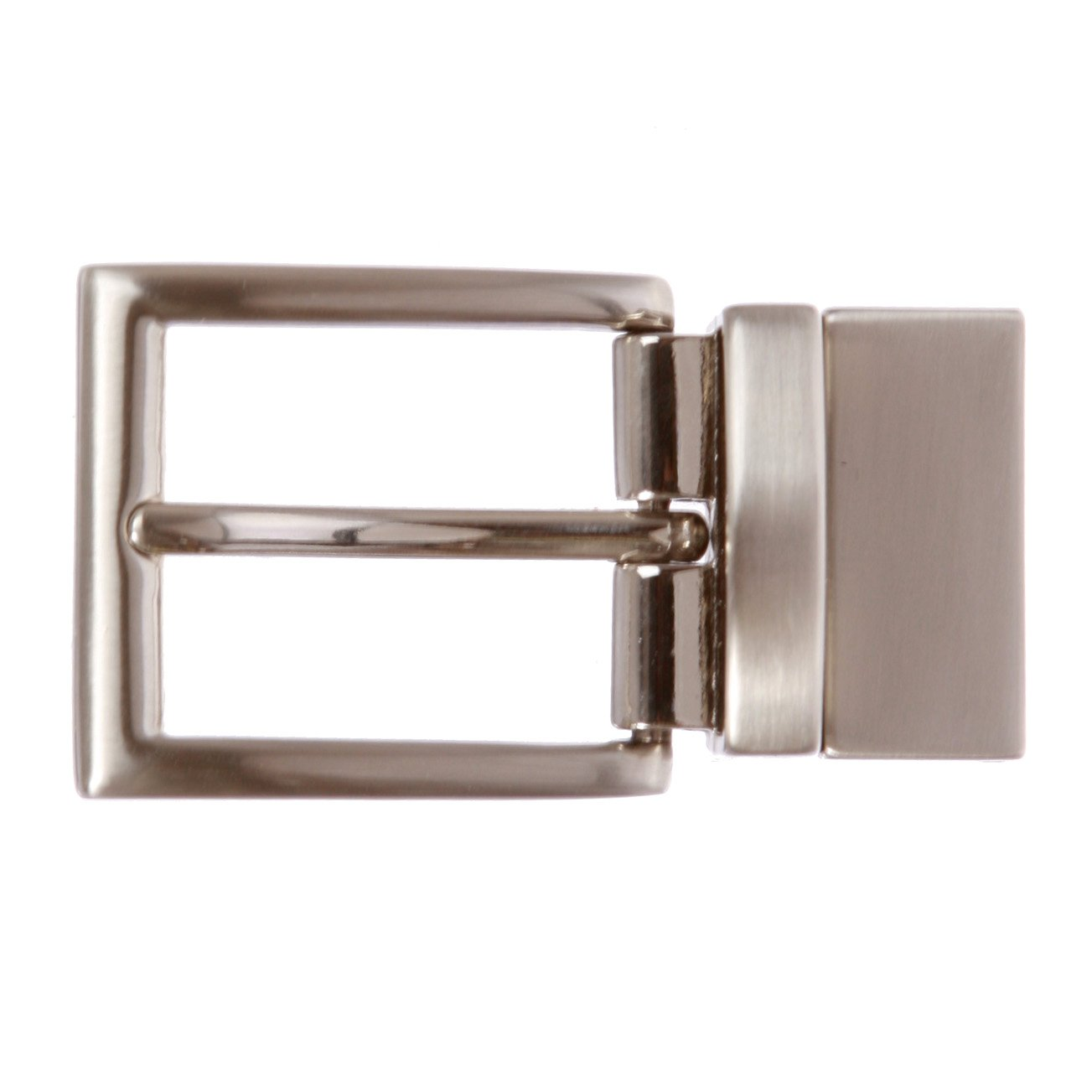 1 1/8 Inch (30 mm) Reversible Clamp Belt Buckle Silver 300113-17go