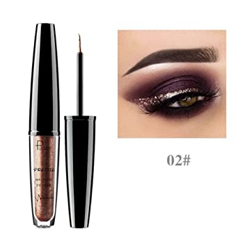 Yiitay 16 Colors Shiny Eye Liner Cosmetics Waterproof Silver Gold Red Shimmer Eyeliner Liquid Glitter Makeup