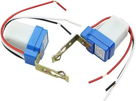 Ac Dc 12v 10a Auto On Off Photocell Light Switch Photoswitch Light Sensor Switch 12v 2pc Amazon Com