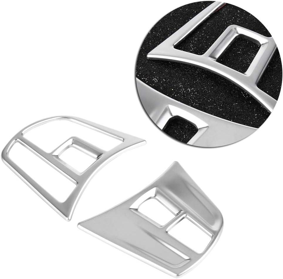 GT F30 F34 2013-2018 Couvre-bouton de volant-ABS Chrome chrom/é int/érieur Garniture de couvre-bouton pour BMW S/érie 3