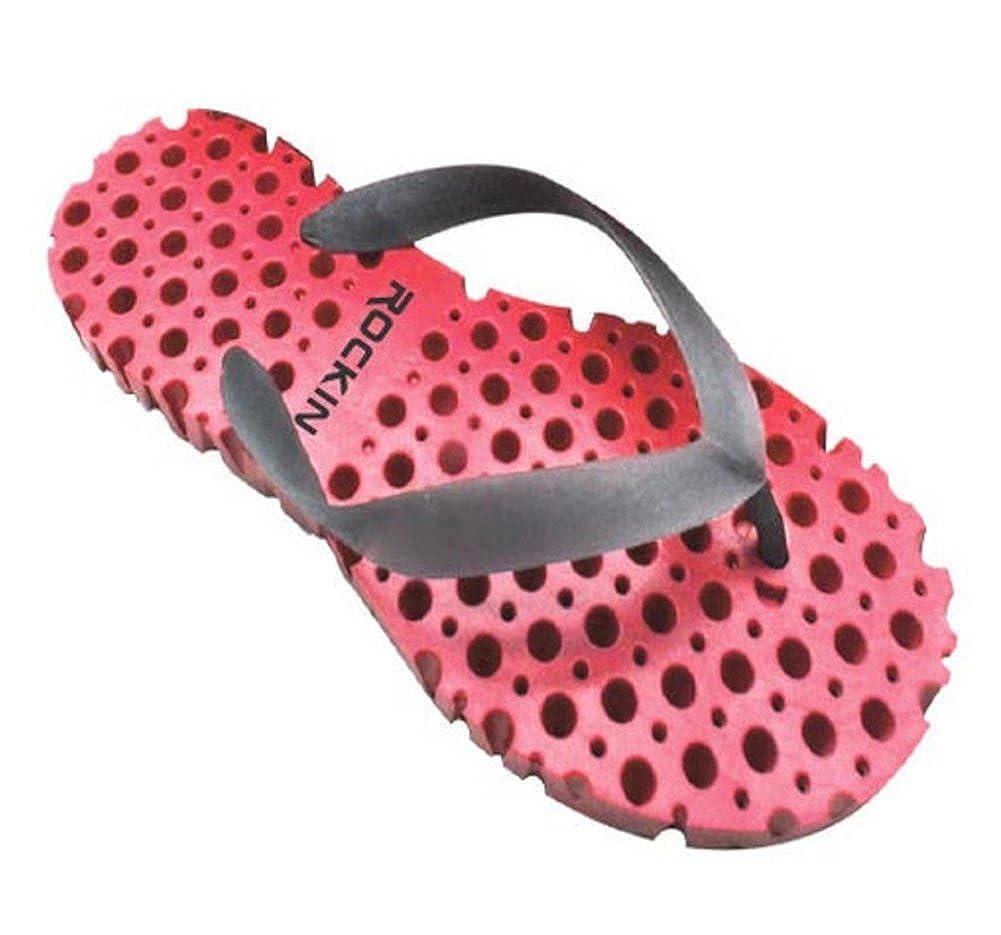 1228d4fc6 Rockin womens honeycomb flip flops water flo thru sole sandals pink shoes  handbags jpg 1001x935 Rockin