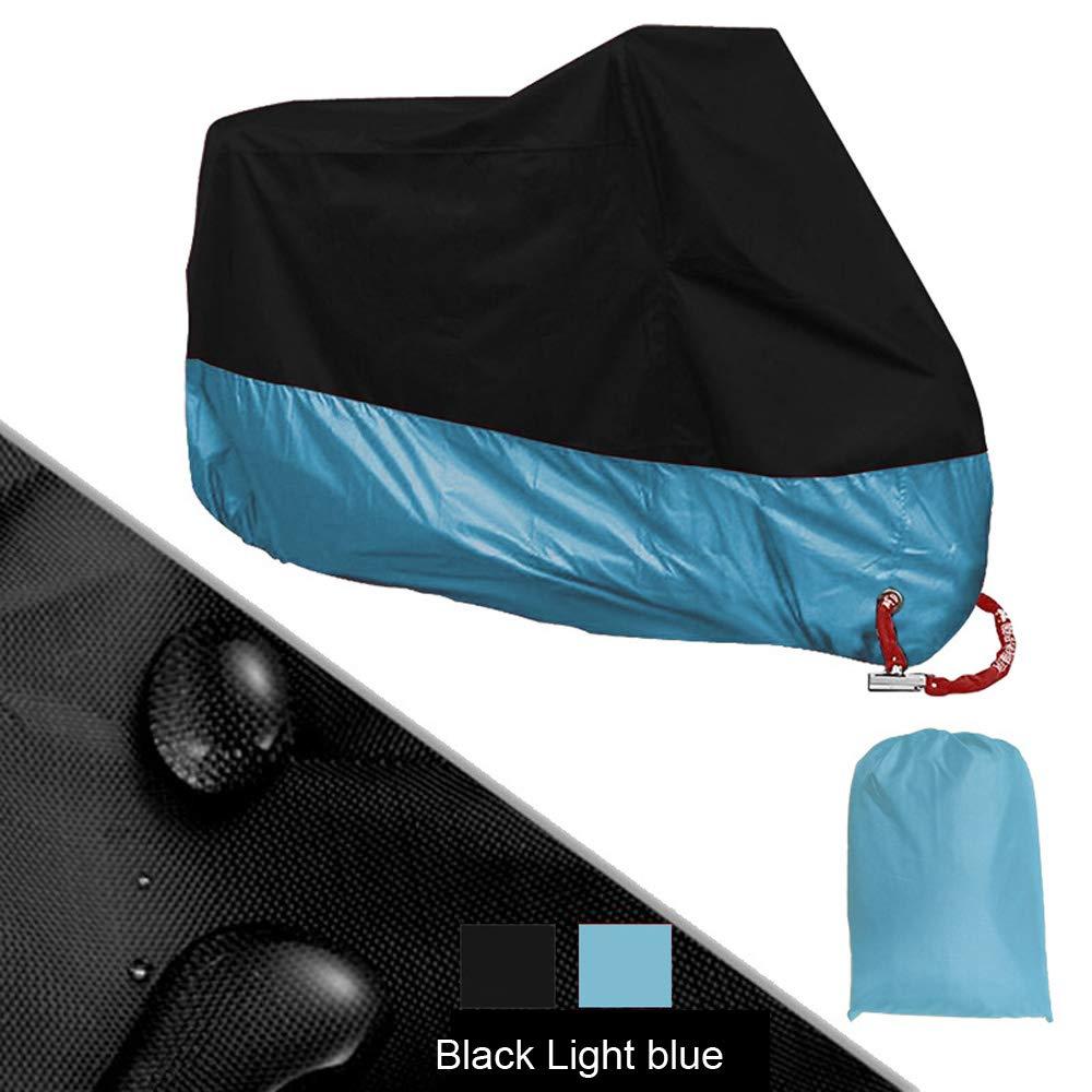 Sunworld 日焼け止め 防雨 防塵 190T シルバーコーティング布 キーホールオートバイカバー付き XXXXL ブルー XXXXL ライトブルー B07GZKJ1V1