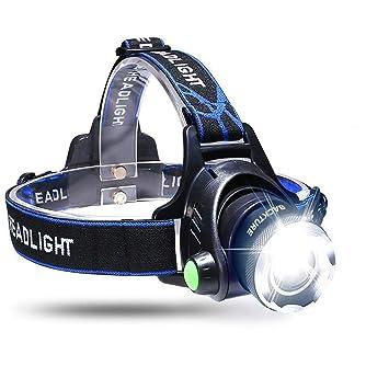 BACKTURE Linterna Frontal, Linterna de Cabeza Recargable USB 4 ...