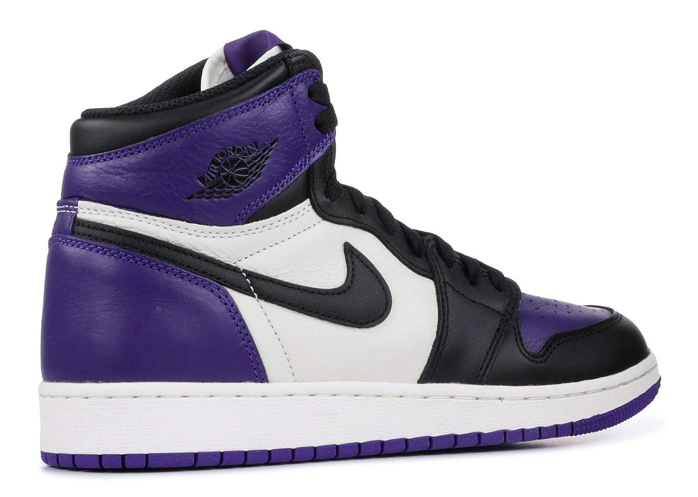 575441-501 AIR Jordan 1 Retro HIGH OG GS Court Purple