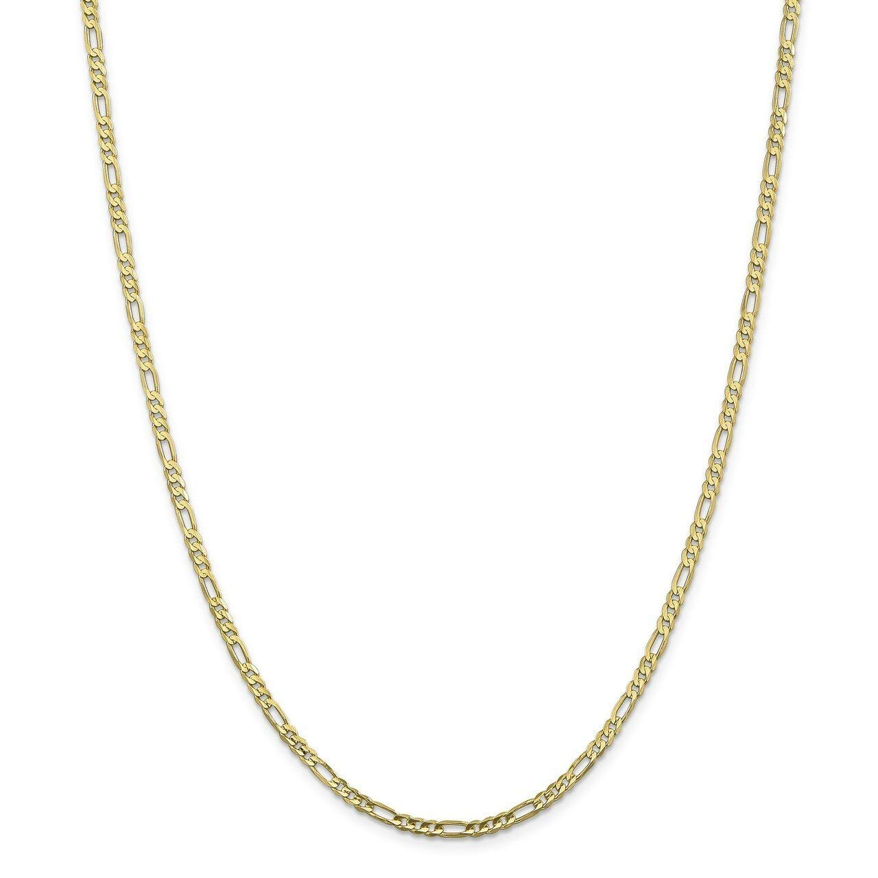 Lex /& Lu 10k Yellow Gold 3.0mm Figaro Chain Necklace or Bracelet