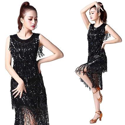 5c8b877d6 FeliciaJuan Women Dancewear Sequin Fringe Tassels Rhythm Salsa Ballroom Samba  Tango Latin Dance Dress Competition Costumes