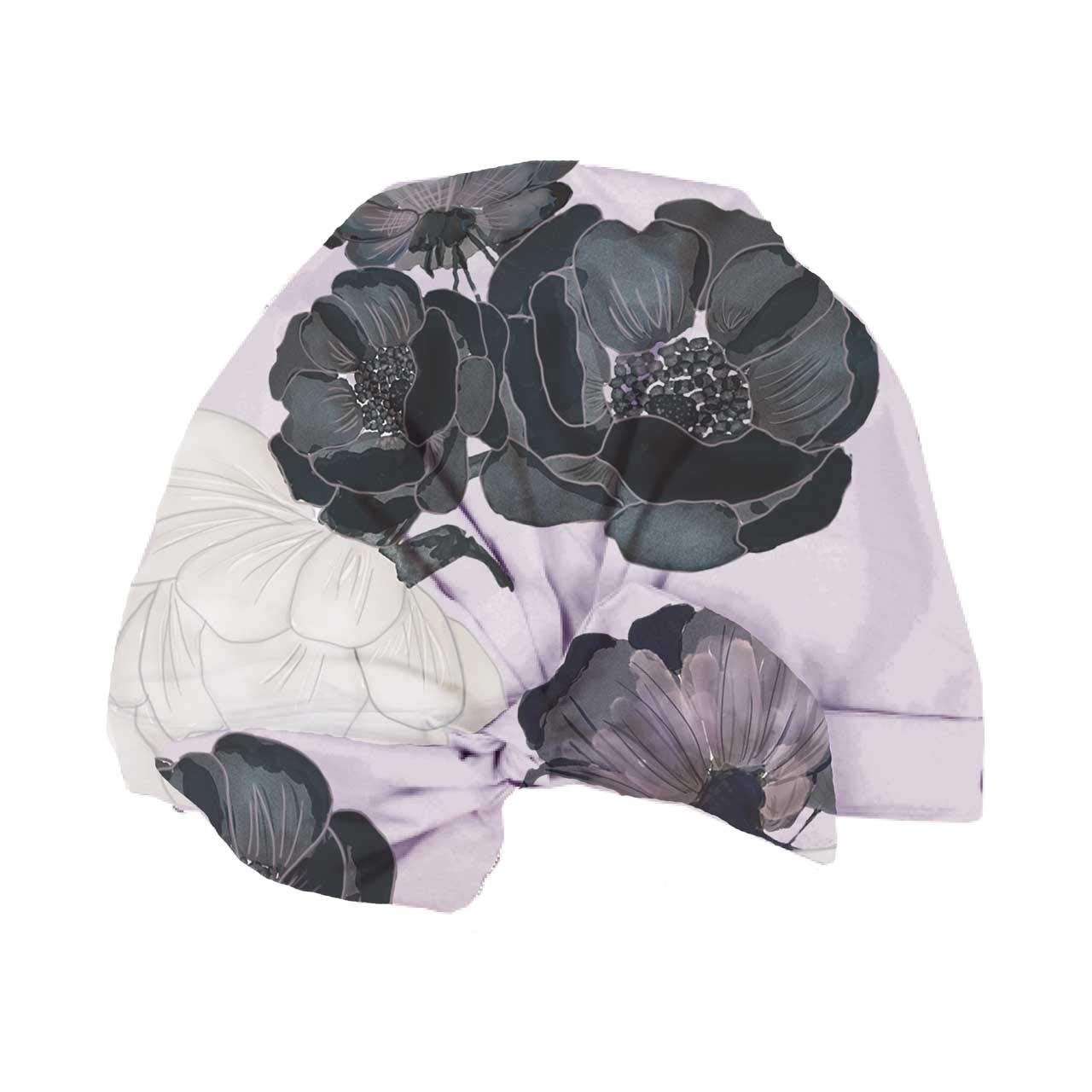 Kitsch Luxe Shower Cap, Reusable and Waterproof, Mold-Resistant Lined Shower Cap (Palm Leaves)