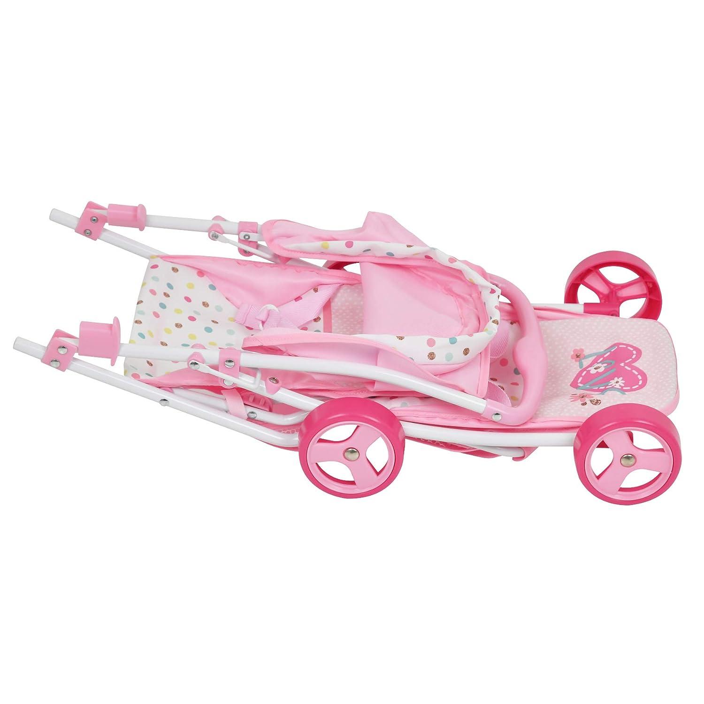 Amazon.com: Love Heart - Cochecito de muñeca doble: Toys & Games