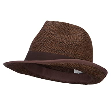 123531459 Classic Men's Woven Paper Straw Fedora at Amazon Men's Clothing store: