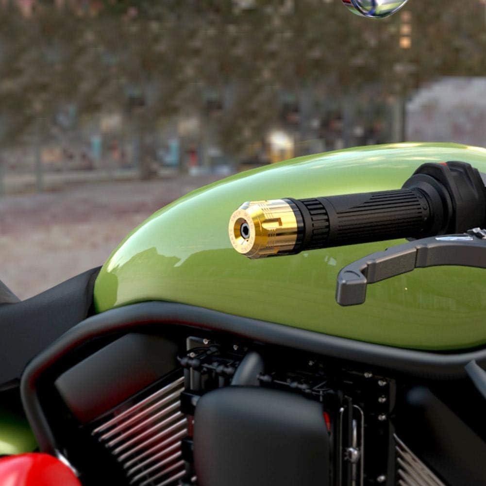 Lot de 2 embouts de guidon de moto CaliSTOUS 7//8 en aluminium CNC pour poign/ée de moto 22 mm