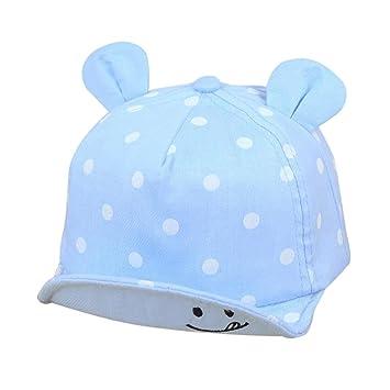 Gorras bebé, ❤️Amlaiworld Sombrero de Punto Lindo de Las Niñas y Niños Bebé Gorra de Sol de Béisbol de Verano (Azul claro): Amazon.es: Belleza
