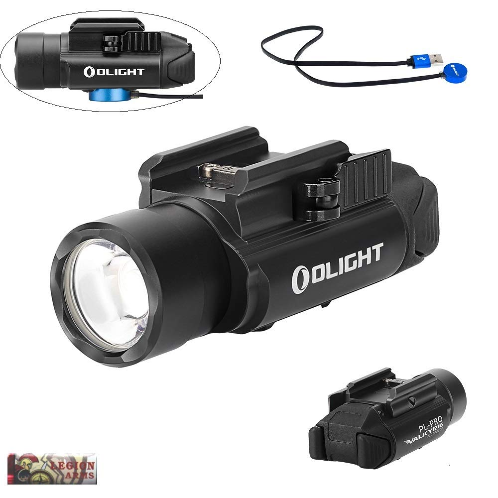 OLIGHT PL-Pro valkyrie 1500 Lumen Weaponlight PL-2 Rechargeable Light, Build-in Battery, Magnetic USB Charging, Quick Release Mount for Picatinny Rail (Black) by OLIGHT PL-Pro valkyrie