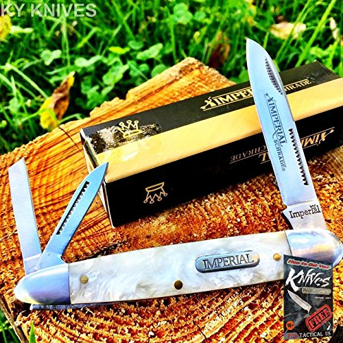 IMPERIAL SCHRADE Pocket Elite Knife Cracked Ice Pearl 4