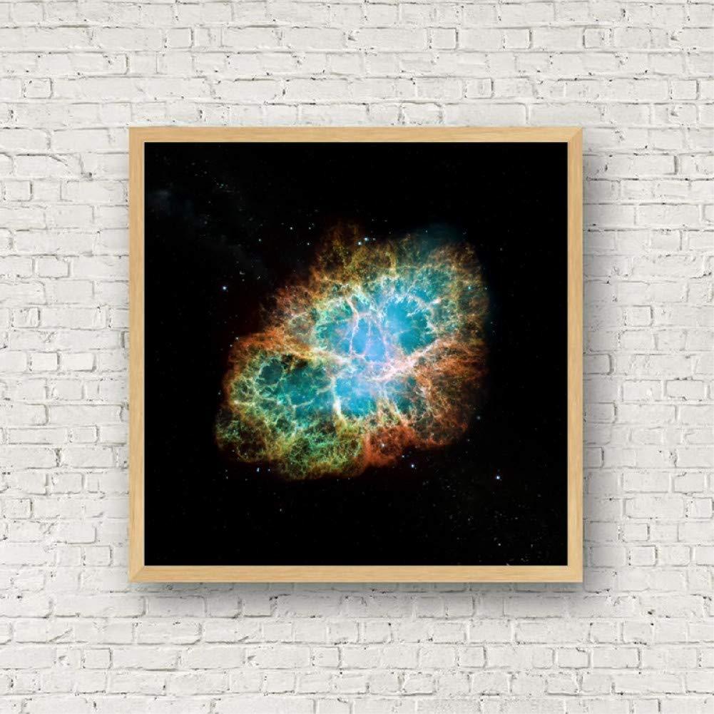 ACYKM Malerei dekorativen Kunst Bild Uni Poster Krebsnebel Druckt Teleskop Raum Leinwand Malerei Wissenschaft Wandbild Wohnkultur-60x80cm