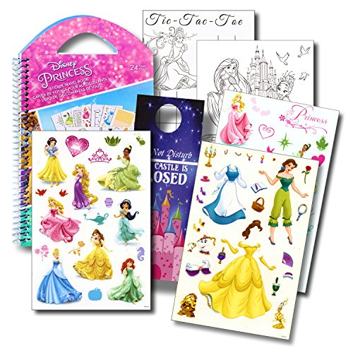 Disney Princess Stickers Travel Activity Set with Stickers, Activities, and Castle Door - Ride Disney Princess