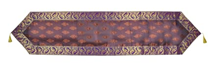 Lal Haveli Silk Luxury Table Cover & Table Runner 78 X 17 Inches