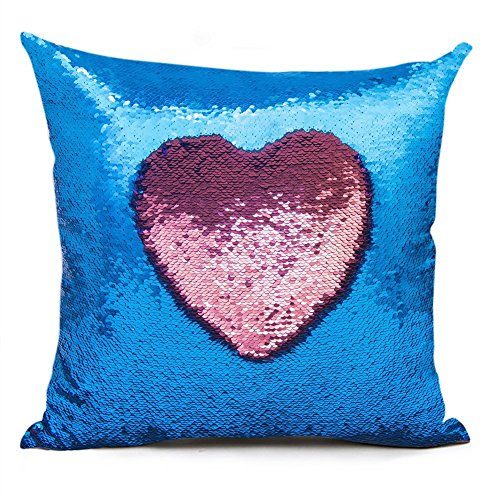 Shevalues Sequins Pillow Cover Mermaid Pillowcase Throw Pillow Cover Cushion Covers 16