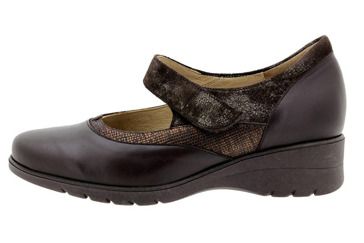 PieSanto Women's 9957 Brown Leather Mary-Jane Comfort Extra Wide 36 W EU (5.5 - 6 C/D US Women)