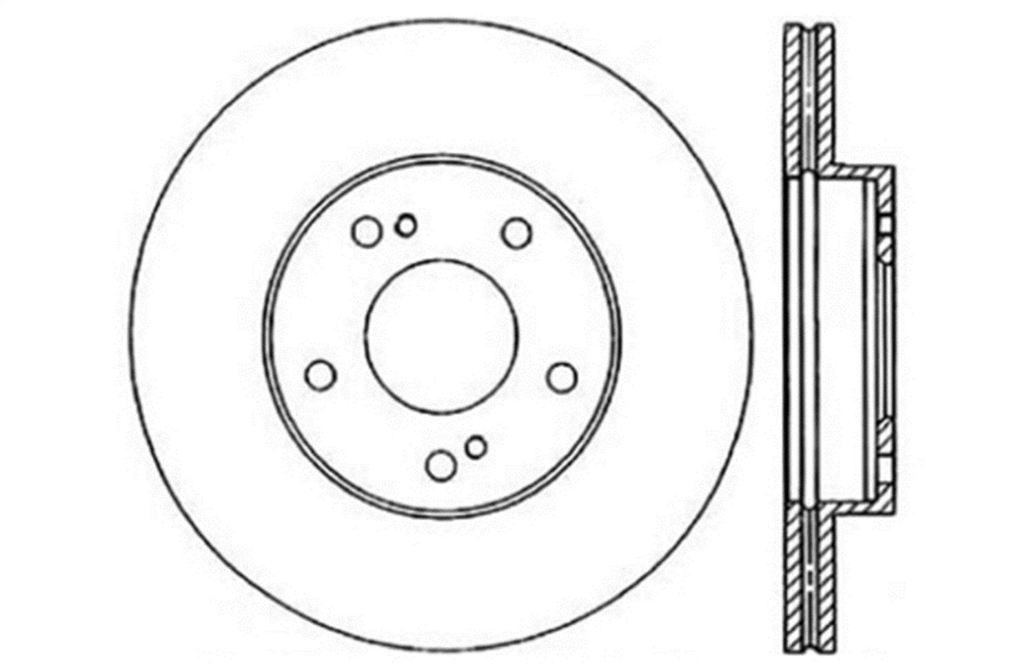 1 Pack StopTech 128.42043R Sport Cross Drilled Brake Rotor Front Right