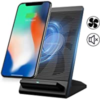 Nanfu Air-cooled Qi-Compatible Wireless Fast Charger Stand with iPhone XR/XS/XS Max/X/8/8P,10W Charges