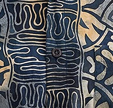 Johari West Geometric Forest Tropical Hawaiian Batik Shirt