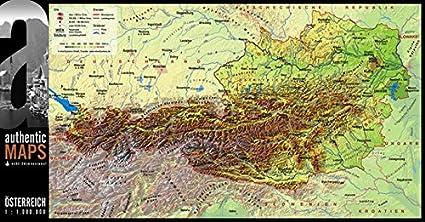 Cartina Del Austria.Vogt Foliendruck Gmbh 3d Cartina Dell Austria 67 5 X 35 Cm Amazon It Casa E Cucina