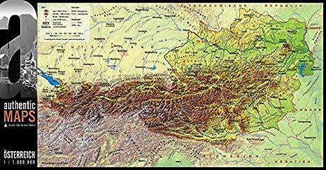 3d Karte Osterreich.3d Landkarte Osterreich 67 5 X 35 Cm Karte Austria Amazon