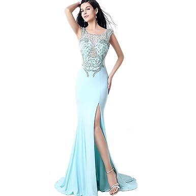 Favebridal Womens Long Lycra Crepe Prom Dresses FYLN001SB-US16