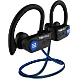 Latest 2020 Bluetooth 5.0 Headphones w/12+ Hours – QCC3003 Chipset - Sport Lightweight Wireless Earphones w/Noise Cancelling Mic - Bass, IPX7 Waterproof in-Ear Earbuds for Gym, Running, Workout