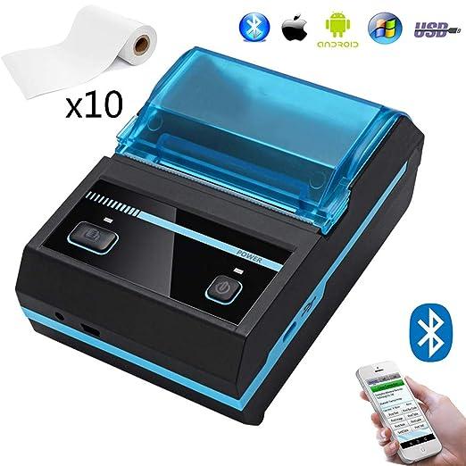 EJOYDUTY Mini Impresora inalámbrica de Recibos térmica ...