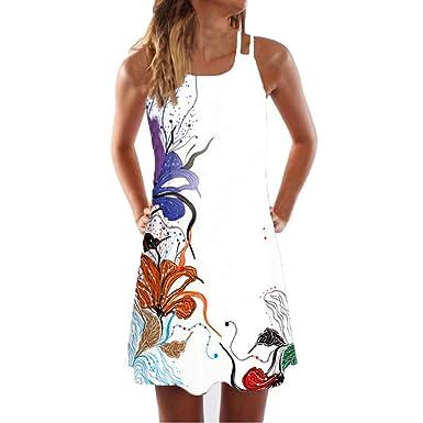 0ee6d1a63e2 Momoxi Robes Femme Chic Été Imprimée Courte Robes Femme Ete Casual ...