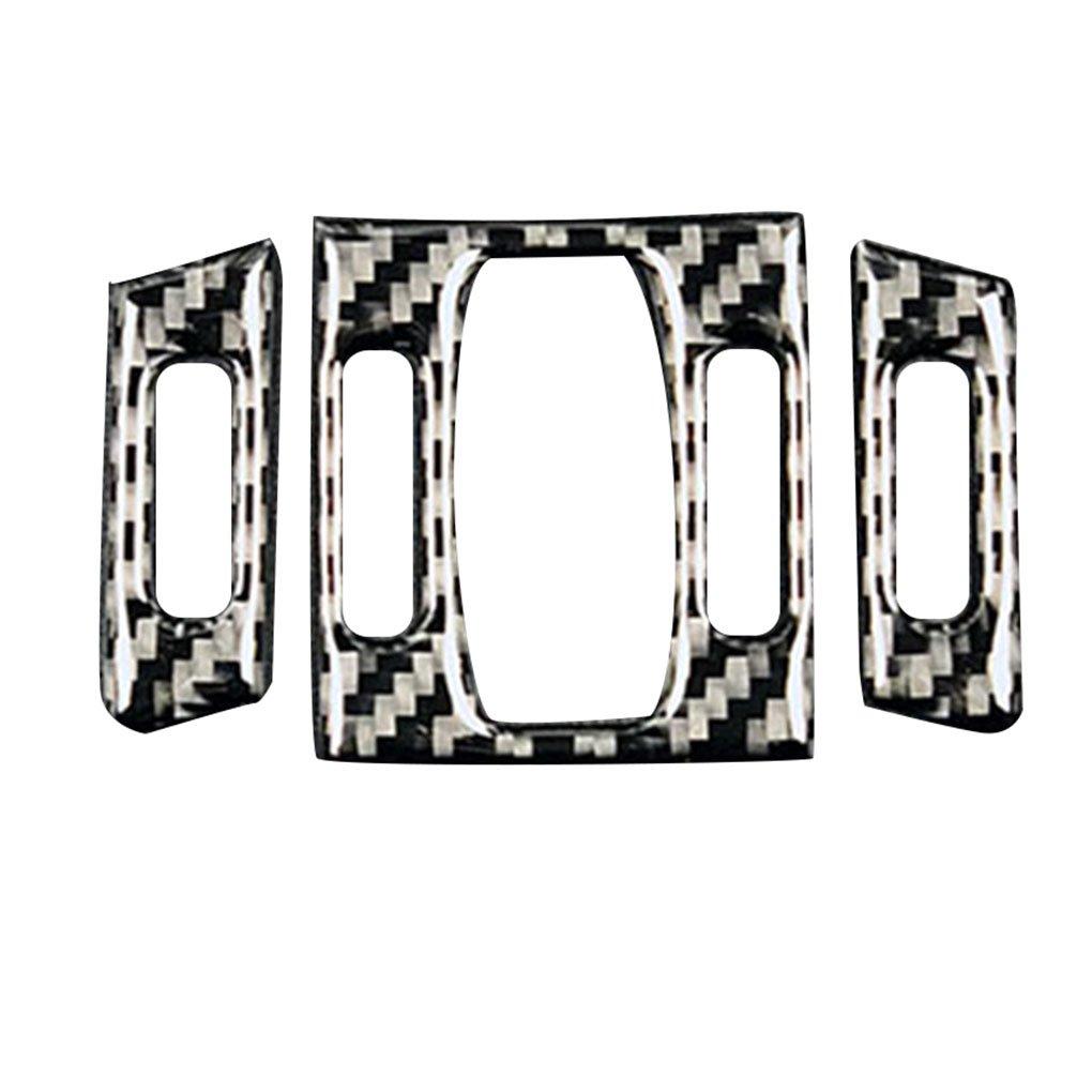 Floridivy 3pcs en Fibre de Carbone de Voitures climatisation Moyen Sortie dair pour d/écor Garniture Couverture BMW S/érie 5 E60 2004-2010