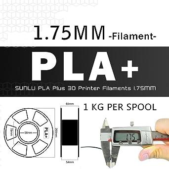 Filamento de impresora 3D PLA Plus Rosa, PLA Plus Filamento 1.75 mm SUNLU, precisión dimensional baja en olor +/- 0.02 mm Filamento de impresión 3D, ...