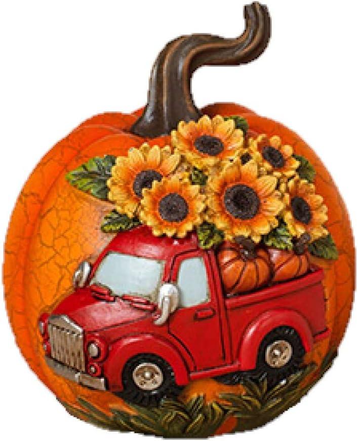 Party Explosions Vintage Pickup Truck Fall Harvest Pumpkin Figurine