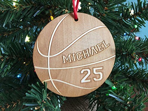 Sports Basketball Ornament, Personalized Sports Ornament, Personalized Sports Player Ornament, New Baby (Custom Basketball Bags)