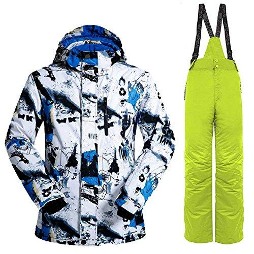 Yff E Giacca Uomini Snowboard Da Pantaloni Leit Impermeabile Sci Tuta Lanlv Antivento TqwxdZ6c4
