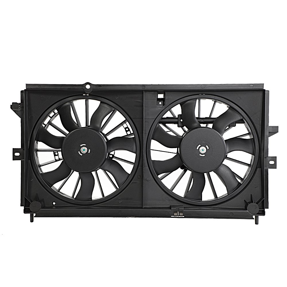 Motorhot fit for 00-03 Chevrolet Impala Monte New Radiator Cooling Dual Fan Assembly 3.4L
