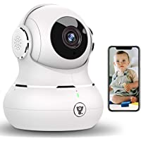 Indoor Security Camera, [2021 Newest] Littlelf 1080P Baby Pet Wireless WiFi IP Camera for Dog/Elder Monitor with Motion…