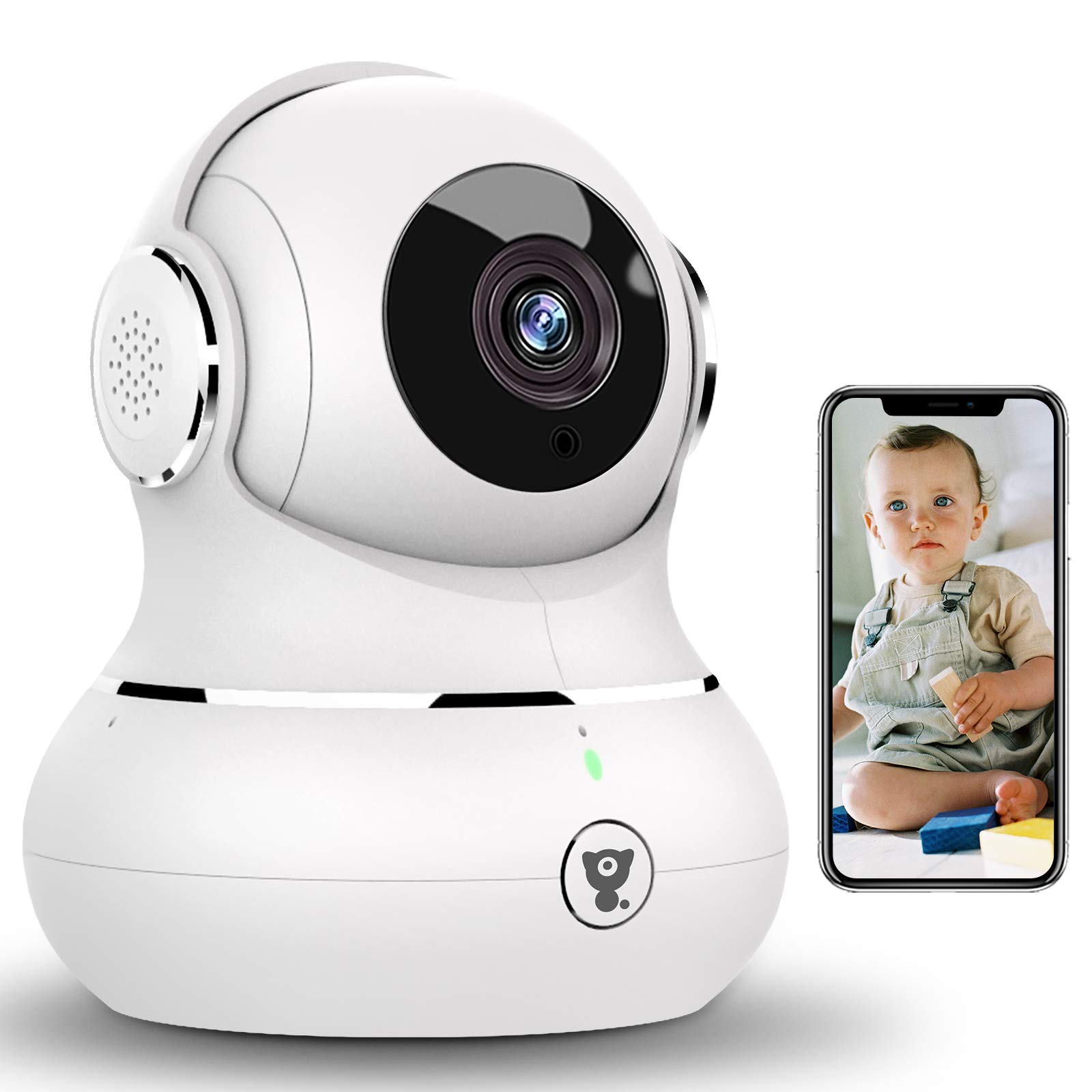 [New Upgrade]Littlelf Wifi Camera,Baby Monitor IP Camera 1080P Security Camera for Pet/Nanny,Dog Camera with Motion Detection,NightVision Tilt Zoom,Works with Alex