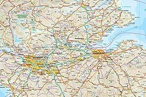 Escocia, mapa de carreteras impermeable. Escala 1:400.000. Reise ...